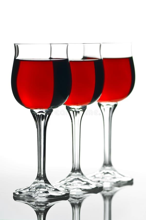 Three Full Wineglass royalty free stock photo