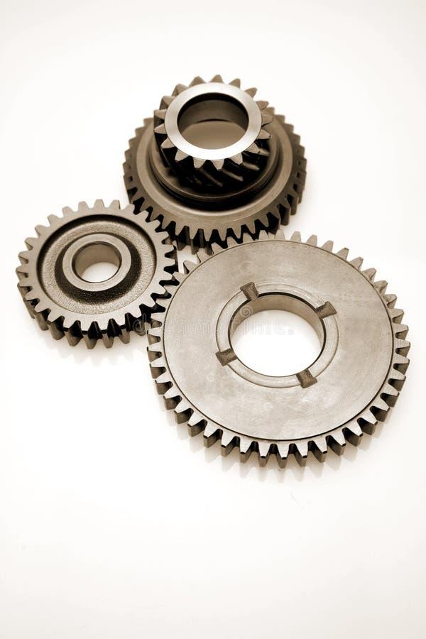 Three gears royalty free stock image