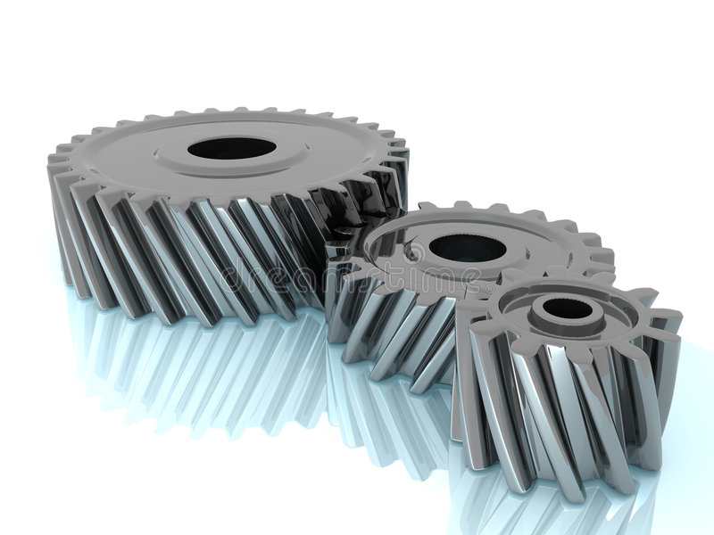 Download Three gears stock image. Image of power, mechanism, motion - 6442345