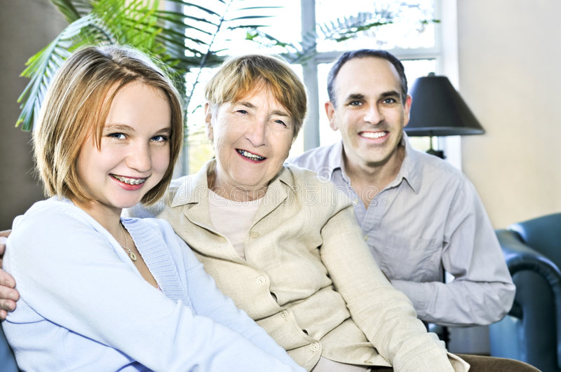Three Generations Royalty Free Stock Photography
