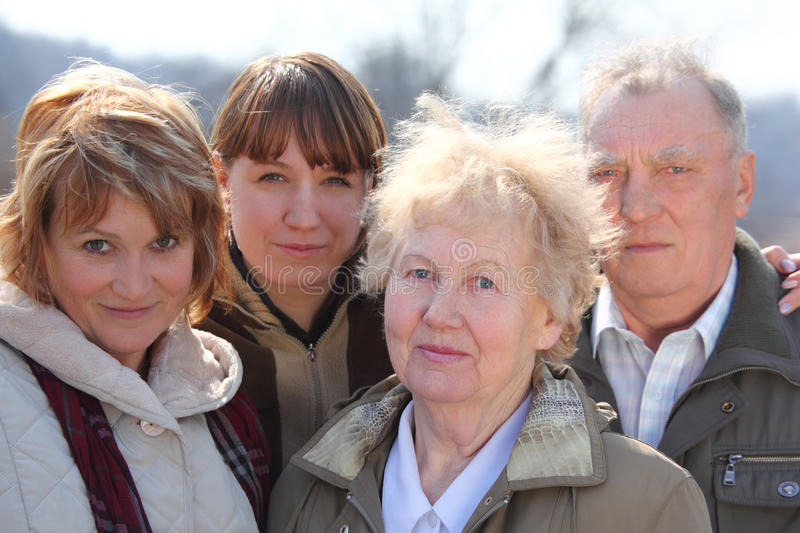 Three generations of one family. Day royalty free stock photography