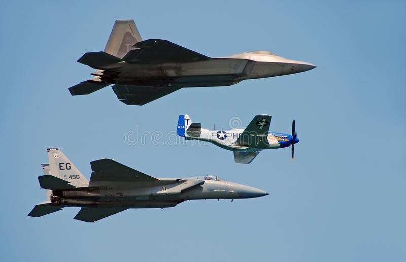 Download Three Generations Of US Air Force Fighters Editorial Stock Image - Image: 18199514