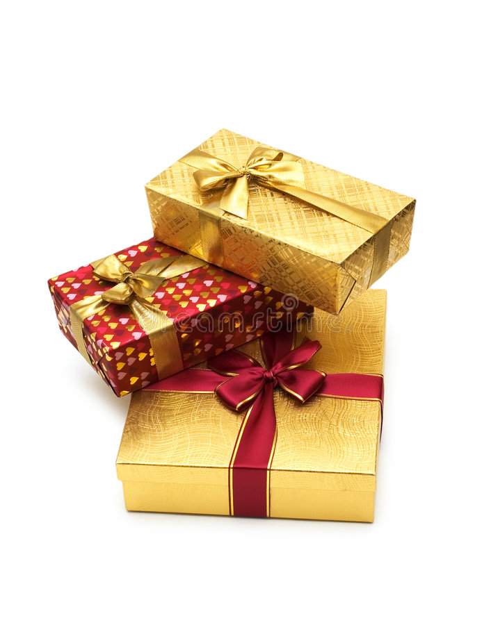 Free Three Giftboxes Isolated Stock Images - 6098034