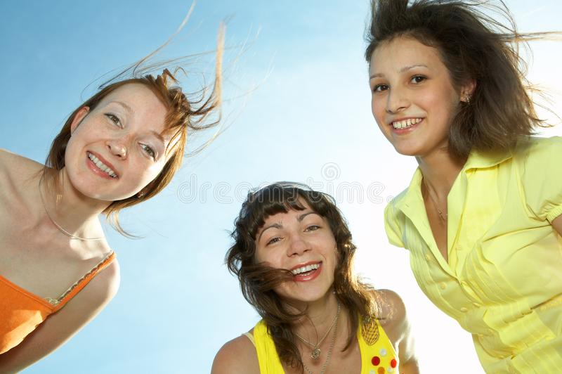 Three girl friend royalty free stock images