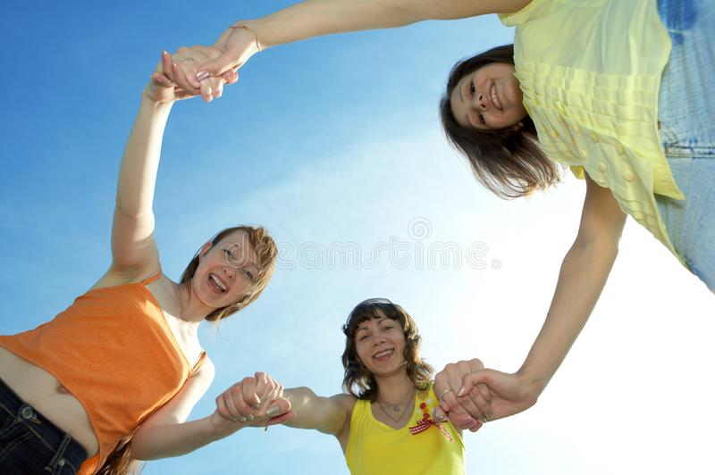 Three girl friend stock image