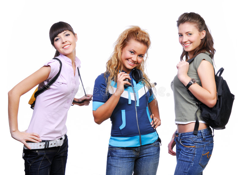 Download Three Girlfriends Having Fun Stock Image - Image: 7087979
