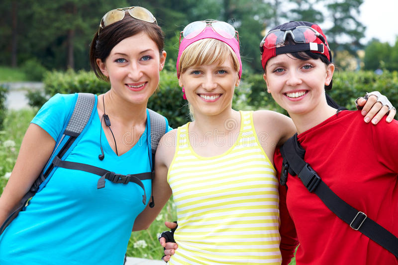 Download Three Girlfriends In Sports Clothes Stock Image - Image: 23927435
