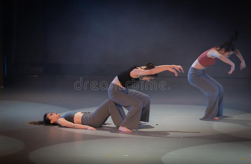 Dispute 2-Schoolmate youth-Modern dance stock images
