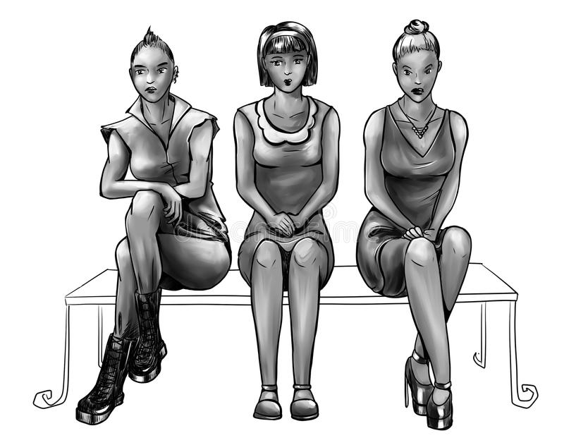 Download Three Girls With Different Life Styles Stock Image - Image: 41642321