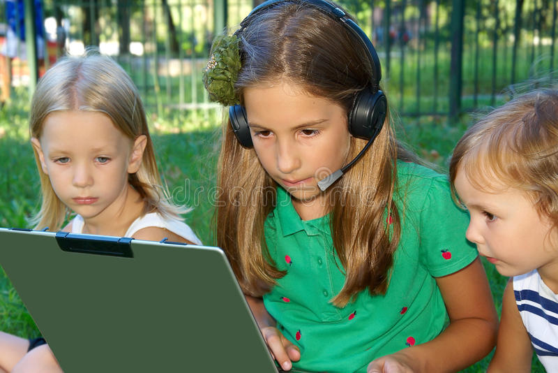 Download Three girls in the park stock photo. Image of leisure - 13165850
