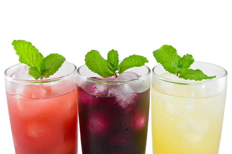 Download Three Glass Of Apple,grape And Strawberry Juice Stock Photo - Image: 23435634
