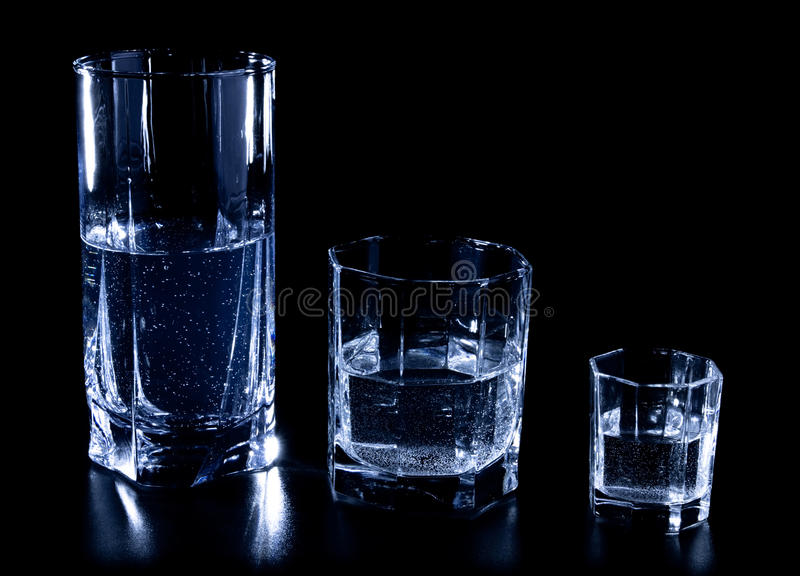 Download Three glasses stock image. Image of bubbles, dark, alcohol - 13063747