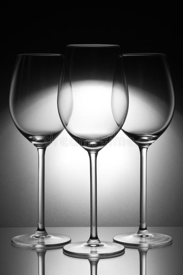 Download Three glasses stock image. Image of dishes, glasses, plate - 20165789