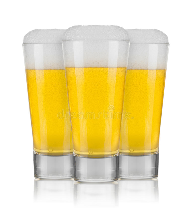 Three Glasses of Beer stock image