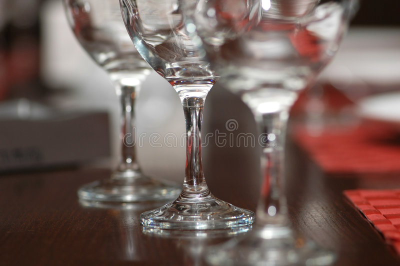 Three glasses on the table royalty free stock images