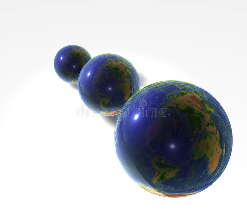 Download Three Globes stock illustration. Image of countries, bright - 1701532