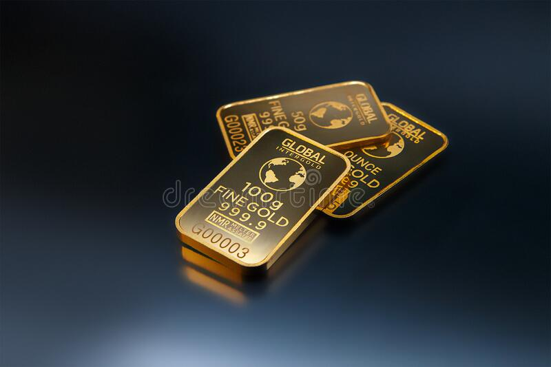 Three Gold Bars Against Dark Background Free Public Domain Cc0 Image