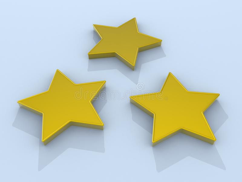 Download Three Gold Stars Stock Images - Image: 18009674