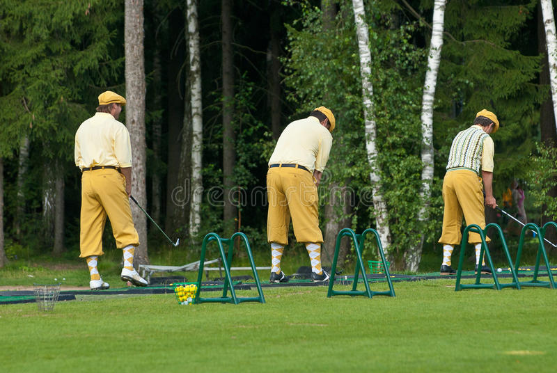 Download Three Golfers At Country Club Editorial Image - Image: 18739015