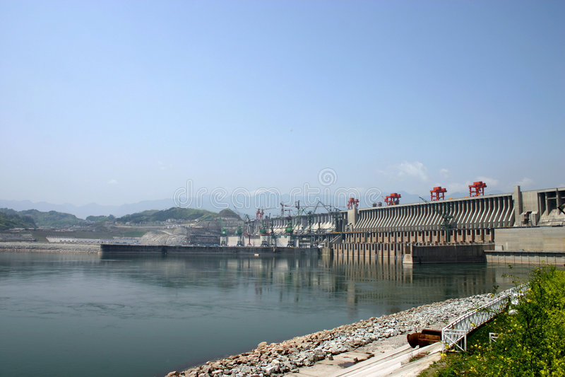 Three Gorge Dam lizenzfreie stockfotografie