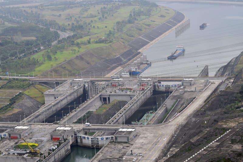 Three Gorge Dam, Cina fotografia stock libera da diritti