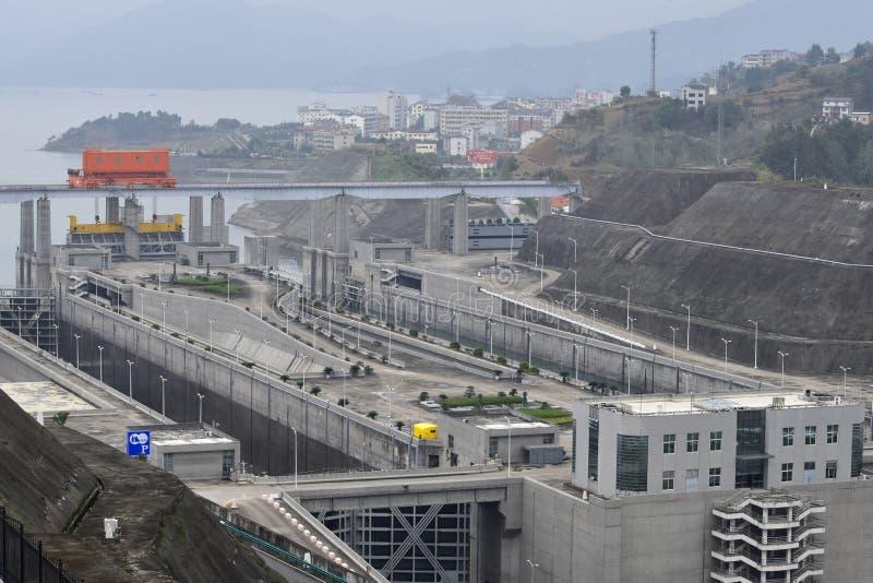 Three Gorge Dam, Cina fotografia stock