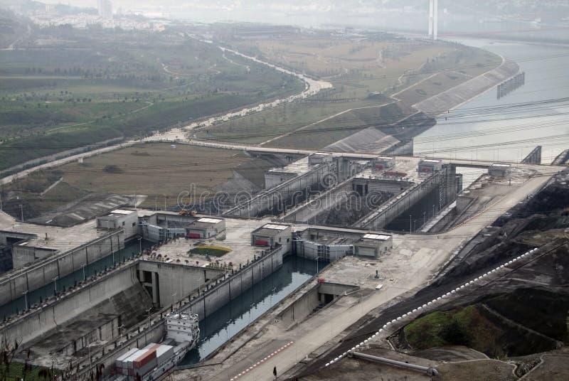 Three Gorge Dam en Chine photographie stock libre de droits