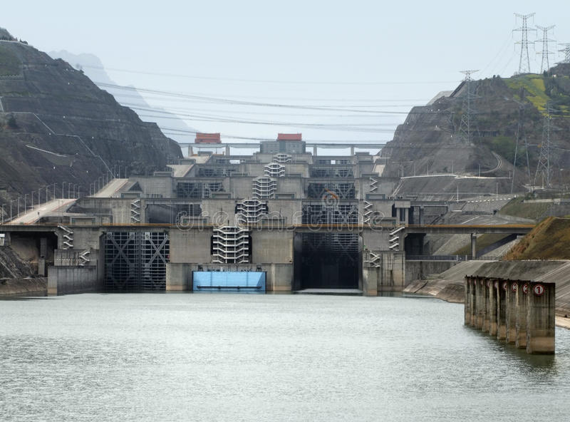 Three Gorge Dam en Chine image stock