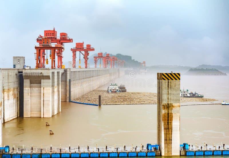 Three Gorge Dam Kina royaltyfri foto