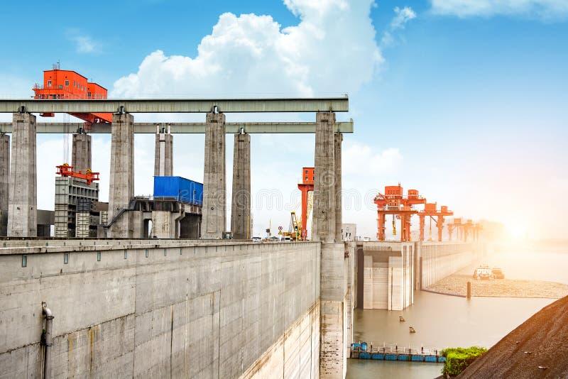 Three Gorge Dam Kina arkivbild