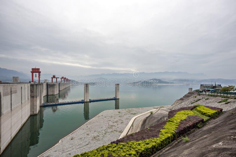 Three Gorge Dam le long du fleuve Yangtze en Chine image libre de droits