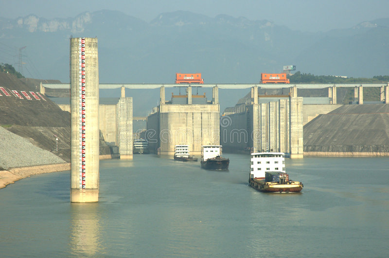 Three Gorges Dam royalty free stock photo