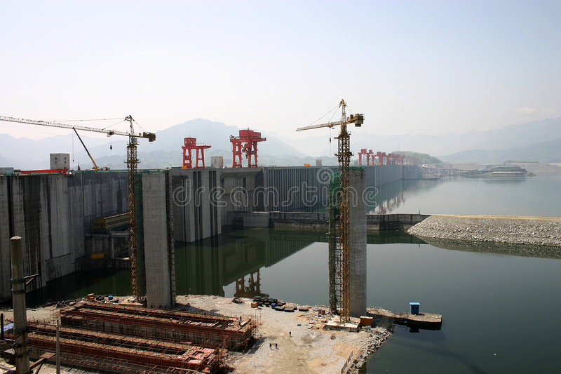 Download THREE GORGES DAM stock photo. Image of spillway, water - 4020266