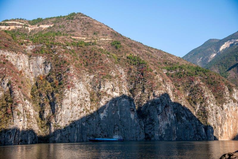 Three Gorges do desfiladeiro do Rio Yangtzé Qutangxia foto de stock royalty free