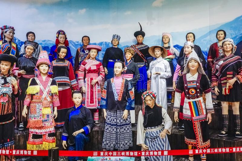 Three Gorges museum i Chongqing, Kina royaltyfri fotografi