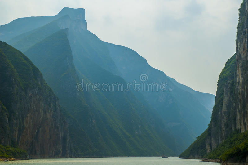 Three Gorges Yangtze River royaltyfria foton