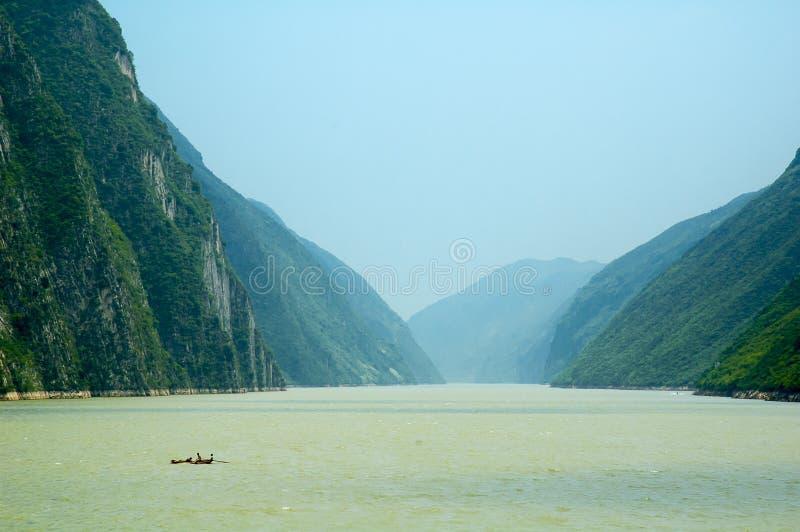 Three Gorges Yangtze River royaltyfria bilder