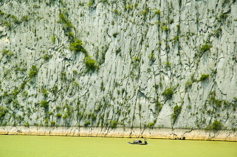 Three Gorges Yangtze River royaltyfri fotografi