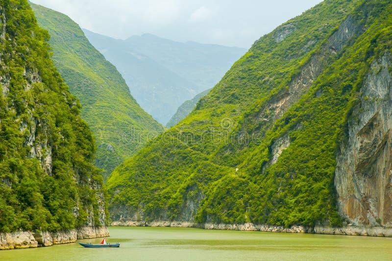 Three Gorges Yangtze River arkivfoto