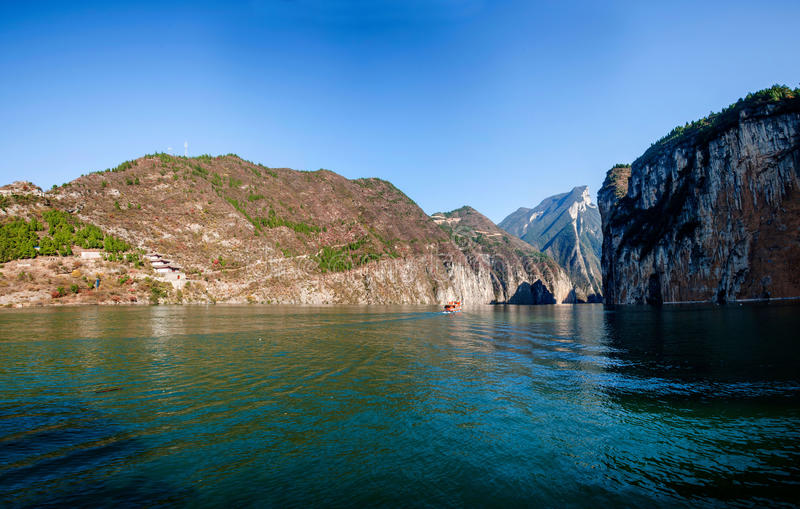 Three Gorges of the Yangtze River Qutangxia Gorge royalty free stock photos