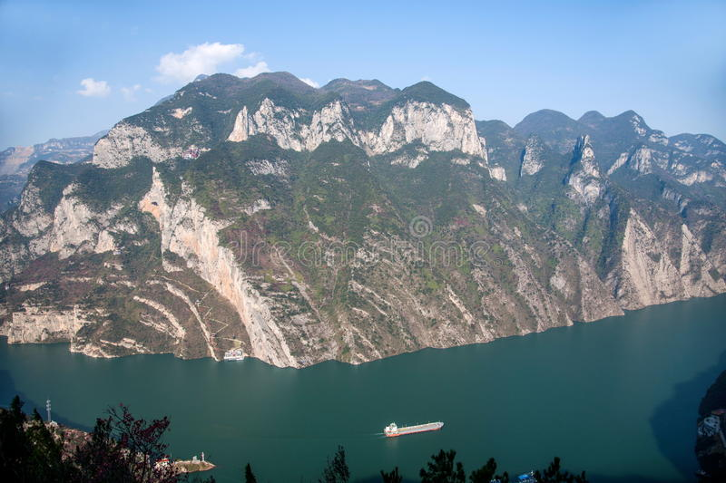 Three Gorges of the Yangtze River Valley Gorge. Wu Gorge, since Wushan County East Daning River, to the Badong County Guandu only, a total length of 46 stock photos
