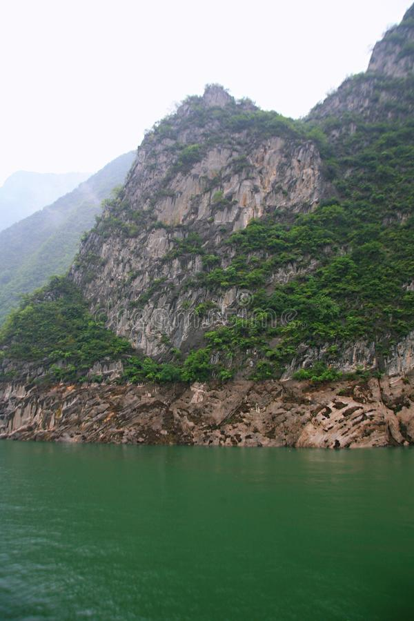 The Three Gorges of the Yangtze River stock photography