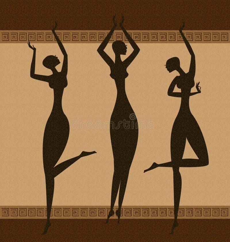 Download Three Graces stock vector. Image of body, girl, dark - 23223506