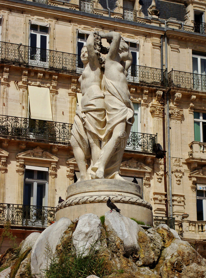 Download Three Graces Statue Montpelier Stock Image - Image: 6853551