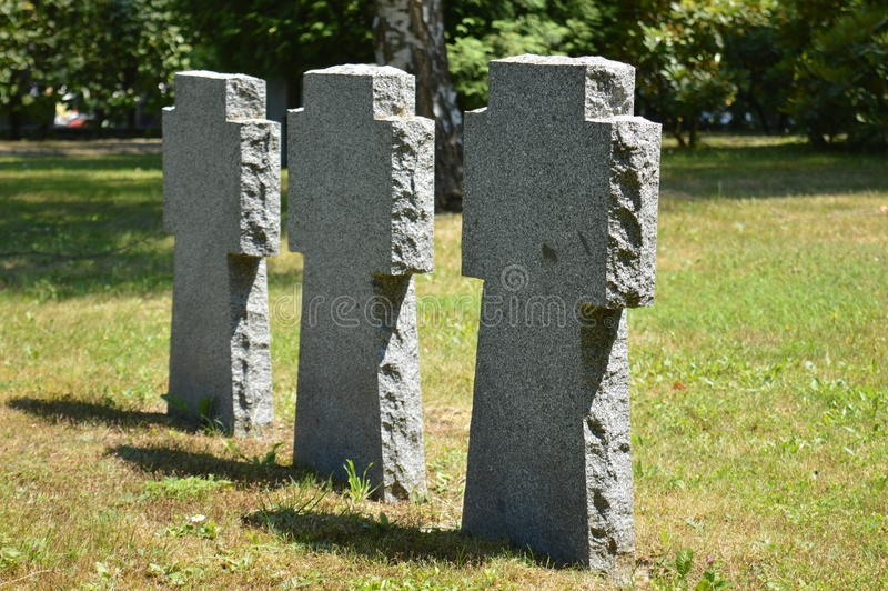 Three graves royalty free stock images