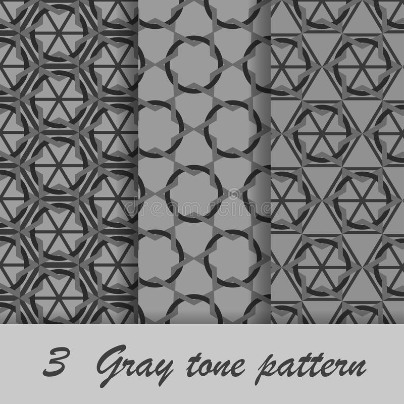 Three gray tone pattern royalty free stock images