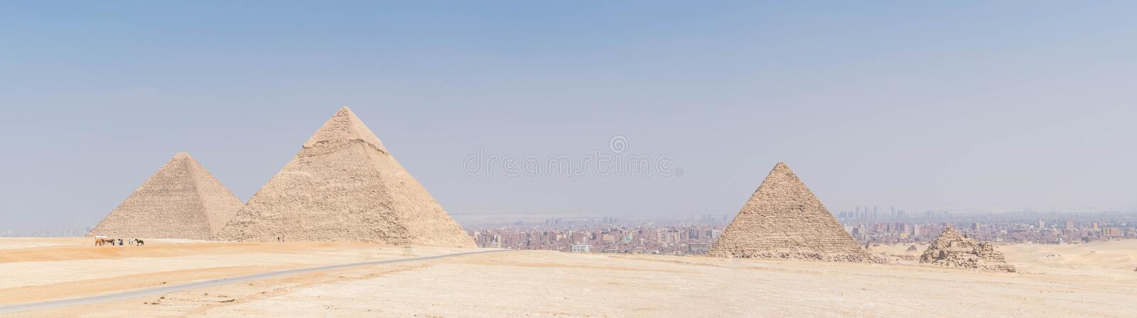 The Great Pyramids of ancient Egypt stock image