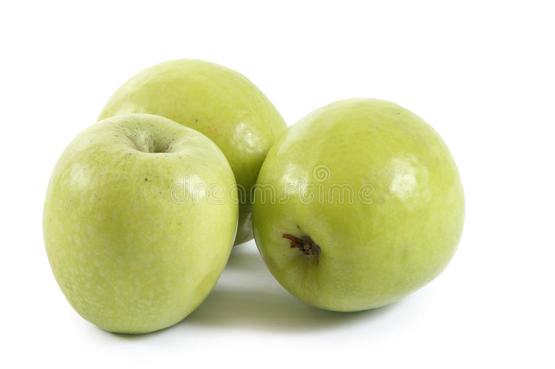 Three green apple royalty free stock images