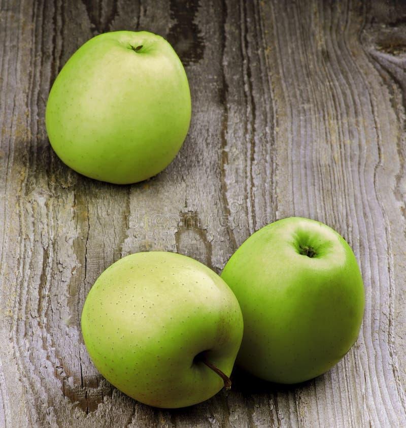 Three Green Apples stock photo