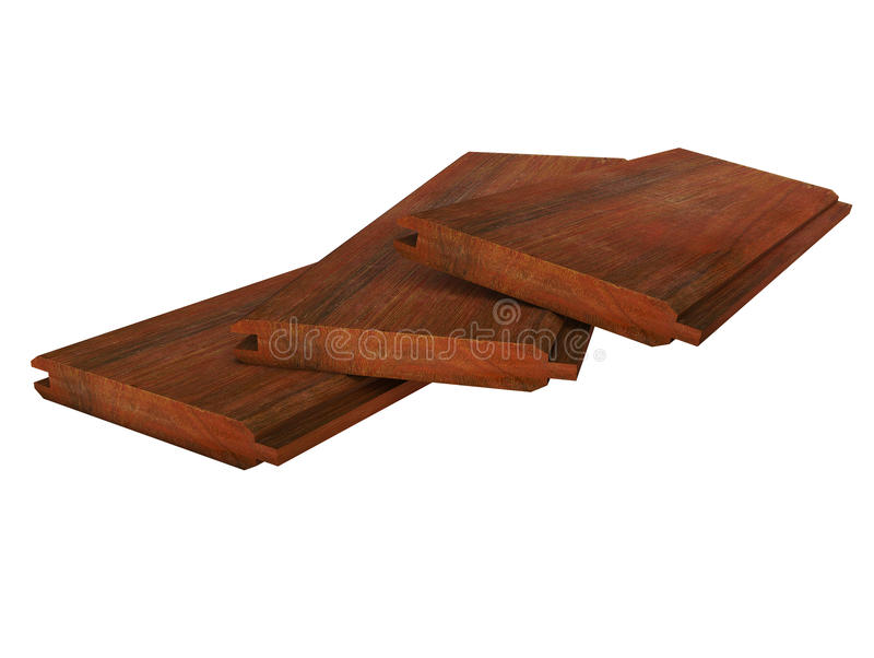 Download Three Grooved Wooden Boards Lying On White Stock Photo - Image: 22789630